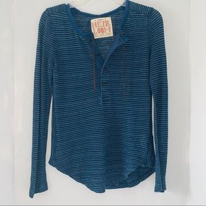 Free People Tops - Free People Heirloom Dessert Rider Small Henley